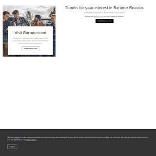 Beacon not available in your region