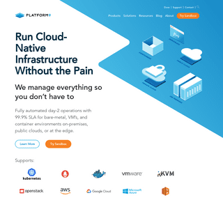 SaaS Managed Hybrid Cloud & Container Orchestration - Platform9