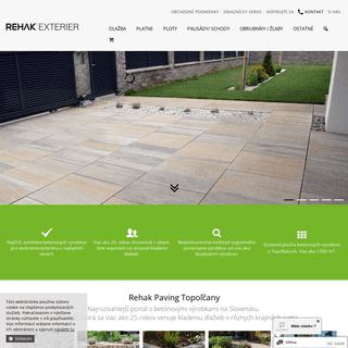 EXTERIER.SK - najširší sortiment betónových dlažieb a stavebných prvkov za najnižšie ceny