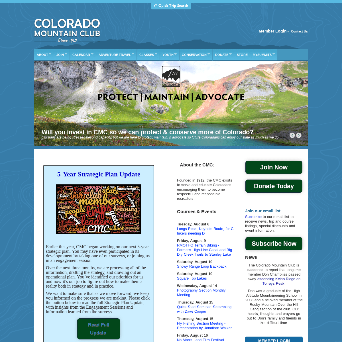 ArchiveBay.com - cmc.org - Colorado Mountain Club - Colorado's leading organization dedicated to adventure, recreation, conservation and education