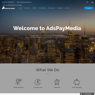 AdsPayMedia- Best Affiliate Marketing Network India