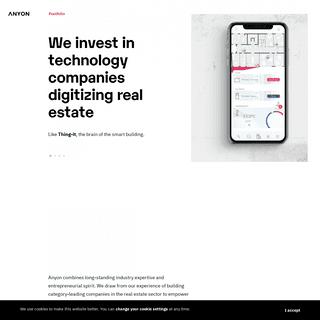Anyon — PropTech Venture Capital Firm