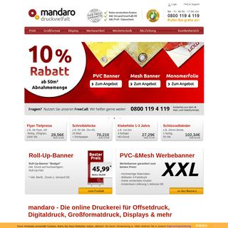 mandaro- Die Online-Druckerei für Offset- & Digitaldruck