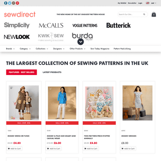 Sewing Patterns UK - Dressmaking Patterns - Sewdirect