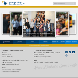 ArchiveBay.com - cesd73.ca - Homepage - Chinook's Edge School Division