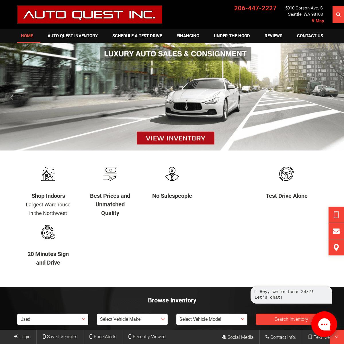 Auto Quest Inc. - Serving Seattle, WA