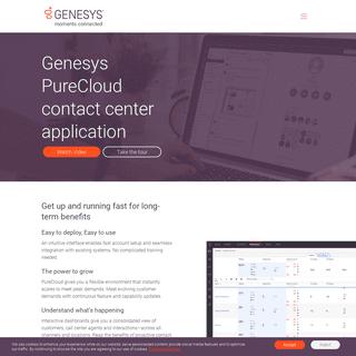 Genesys PureCloud Platform - Customer Experience Platform - Genesys