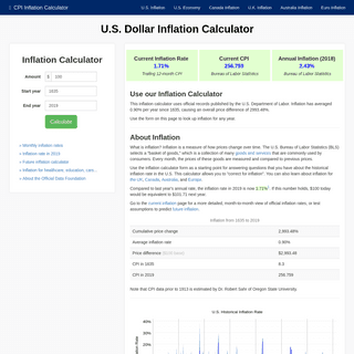 $1 in 1635 → 2019 - Inflation Calculator