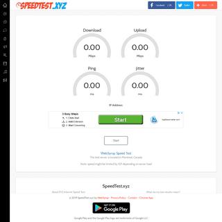 Internet Speed Test - SpeedTest.xyz