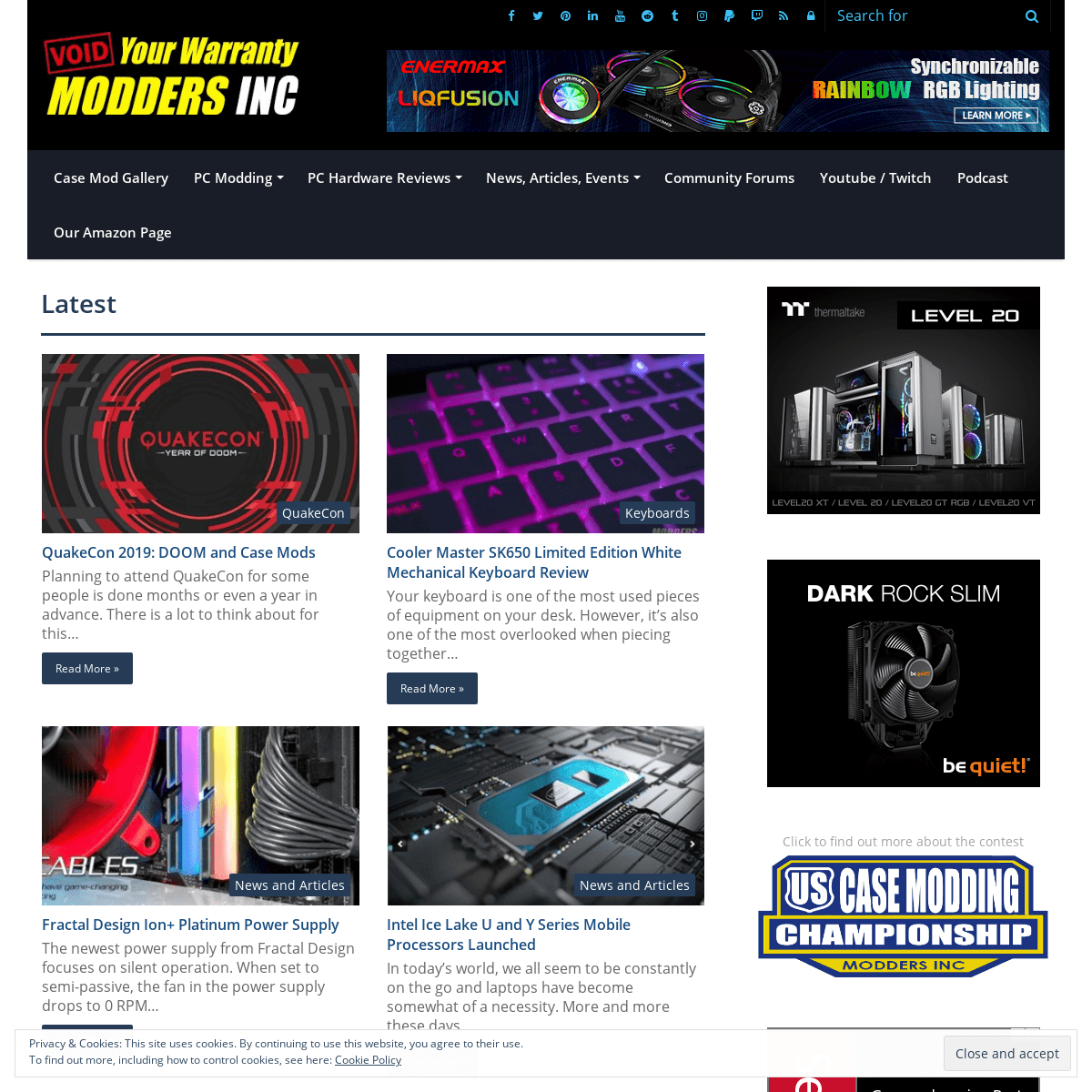 PC case modding site with pc hardware reviews and pc gaming