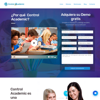 Control Academic - Plataforma Educativa