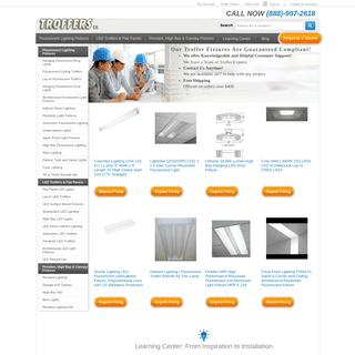 Industrial Fluorescent Lighting - Troffers - Metal Halide