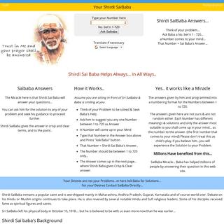 ArchiveBay.com - yoursaibaba.com - Shirdi Sai Baba Answers questions n solves problems Shirdi SaiBaba yoursaibaba.com