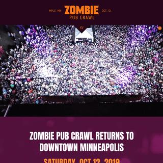 Zombie Pub Crawl - Minneapolis, MN- 10.12.19