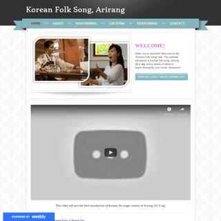 Korean Folk Song, Arirang - Home
