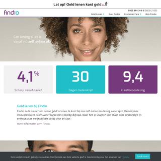Geld lenen- Vergelijk goed en Regel zelf online bij Findio