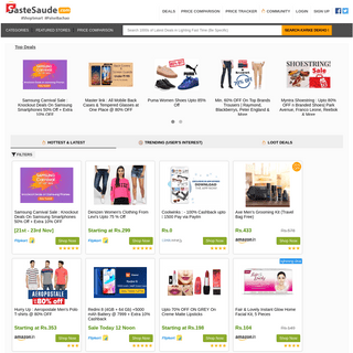 Get Best Online Deals and Offers - Loot Deals - Lowest Price Deal of the Day - SasteSaude.com