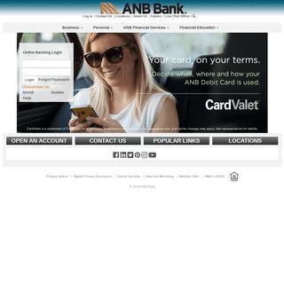 ArchiveBay.com - anbbank.com - Home - ANB Bank