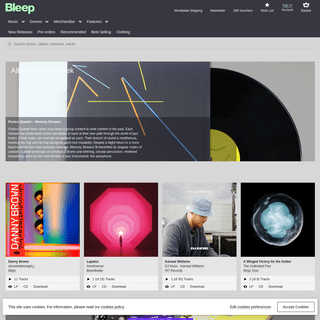 Bleep - Your Source for Independent Music - Download MP3, WAV and FLAC, Buy Vinyl, CD and Merchandise