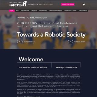 IROS 2018 - International Conference on Intelligent Robots - Madrid