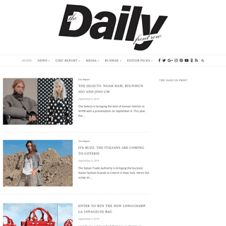 Daily Front Row - Your online fashion news source for the latest fashion industry news, fashion trends, and fashion designers