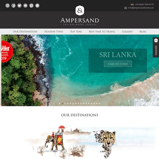 Luxury Holidays & Tours - Tailor Made Holidays - Ampersand Travel