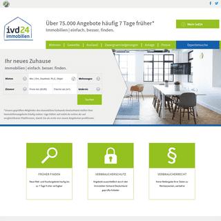 Immobilien, Wohnungen, Häuser bei Immobilienportal ivd24