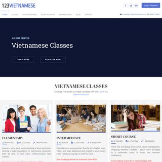 Vietnamese Language Classes Online, Learn Vietnamese In Vietnam - 123vietnamese.com