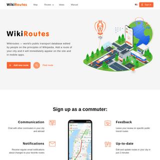 Wikiroutes- Your Public Transit Database
