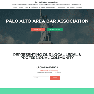The Palo Alto Area Bar Association – A local bar association for attorneys and associated professionals in Santa Clara and San