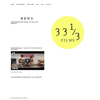 Thirty Three and a Third FILMS - A boutique film company.