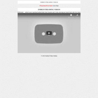EMBED STREAMING VIDEOS - Embed Streaming Videos