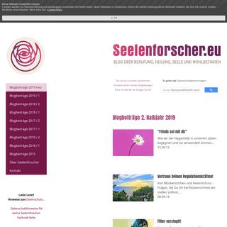 Seelenforscher.eu Blogbeiträge 2018 - Seelenforscher.eu