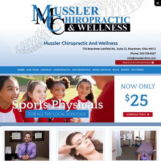 Chiropractor, Naturopath, Massage Therapist - Mussler Chiropractic
