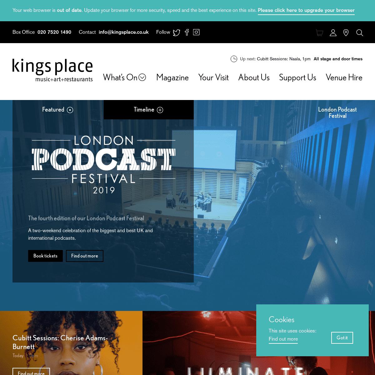 Kings Place - Music + Art + Restaurants