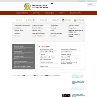 Tribunal de Justiça de Sergipe - Home