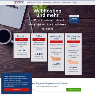 Webhosting schneller dank SSD und sicherer mit SSL im Paket - goneo