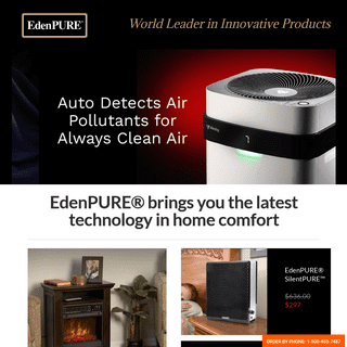 EdenPURE Storefront Main Page