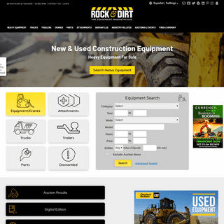 Construction Equipment - Find New & Used Construction Equipment & Heavy Machinery - Rock & Dirt