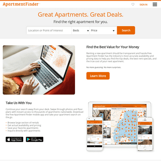 Apartment Finder - Great Apartments. Great Deals.