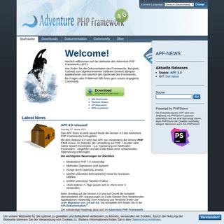 Startseite -- Adventure PHP Framework (APF)