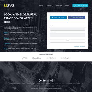 ArchiveBay.com - resaas.com - RESAAS - The World's Largest Real Estate Technology Platform