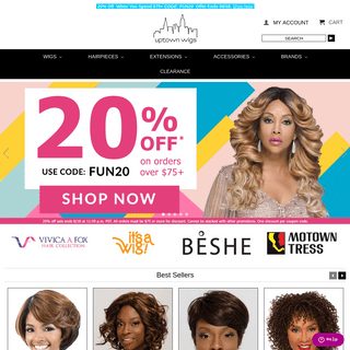 ArchiveBay.com - uptownwigs.com - Uptown Wigs for Black Women, African American Styles