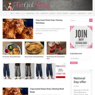 FatGirlSkinny.net - Slimming World Weight Loss Blog - Weight Loss, Slimming World And My Life
