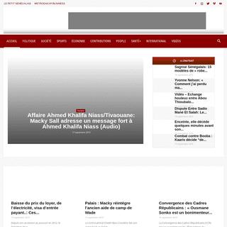 Metrodakar - Actualité au Sénégal, toute actualité du jour