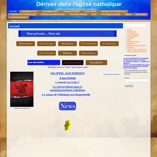 ArchiveBay.com - derivesdansleglisecatholique.fr - Accueil - Dérives dans l'eglise catholiqueDérives dans l'eglise catholique