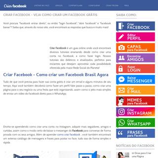 ArchiveBay.com - criarfacebook.com - Criar Facebook - Como Criar um Facebook Grátis Fácil