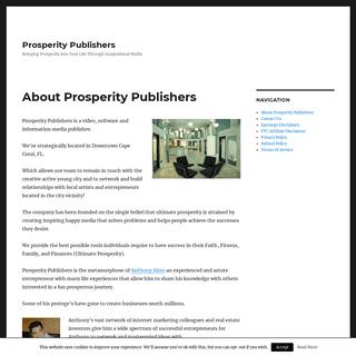 Prosperity Publishers - Bringing Prosperity Into Your Life Through Inspirational Media