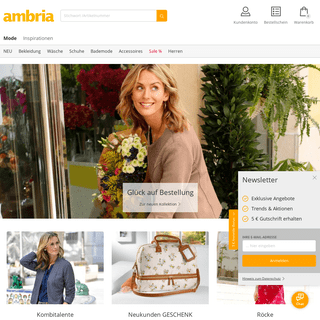 Aktuelle Damenmode, schicke Schuhe und Wäsche - ambria
