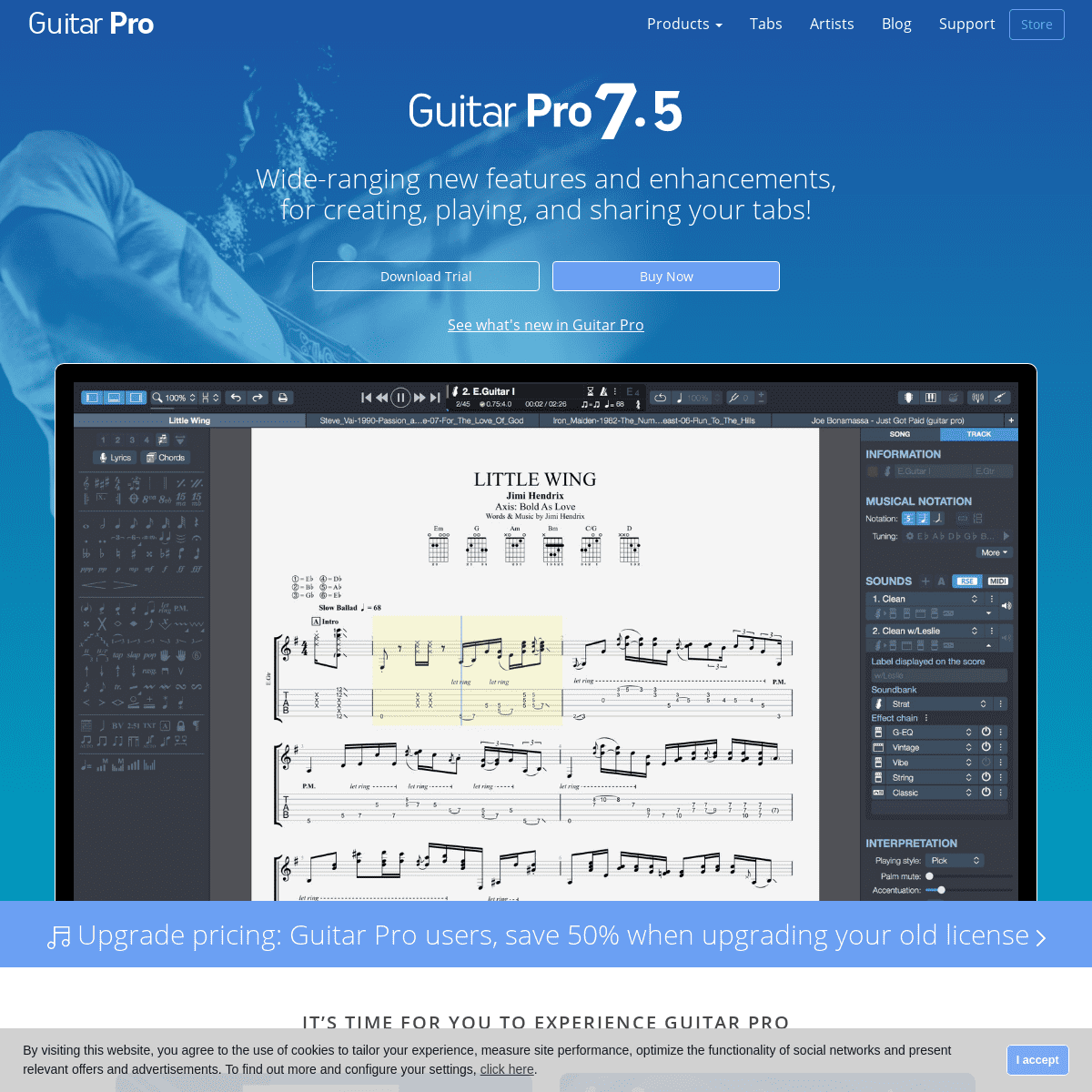 Guitar Pro - Sheet music editor software for guitar, bass, keyboards, drums and more...